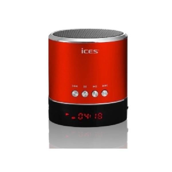 enceinte portable rouge ices avec port micro sd et usb. Black Bedroom Furniture Sets. Home Design Ideas