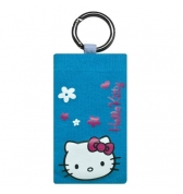 Socquette Hello Kitty bleue anneau m&eacute;tal iphone 3g3gs