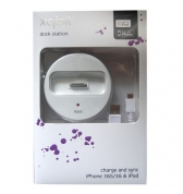 Socle d'accueil charge et synchro blanc Xqisit iPhone 3g 3gs et iPhone 4 4S