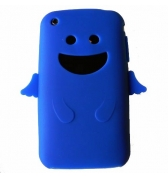 Coque silicone bleu ange pour Iphone 3G 3GS