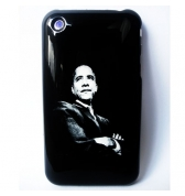 Coque iPhone OBAMA noire USA 3G et 3GS
