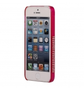 Bumper strass rose pour iPhone 5