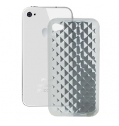 Coque silicone transparente cube 