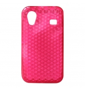 Coque souple minigel rose motif hexagones pour Samsung Galaxy ACE S5830