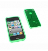 Coque silicone verte diams iPhone 4 