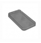 Coque Case mate rubber triangles gris iPhone 4