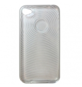 Housse silicone transparent ondes iPhone 4