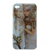 Coque Manga jeune fille au miroir iPhone 4/4S