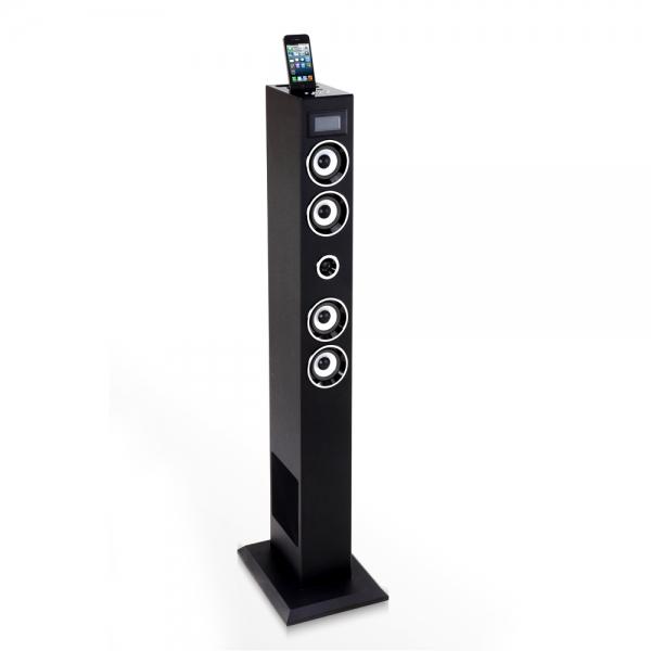 tour audio noire bluetooth avec double dock ipod iphone 3g 3gs 4 4s et micro usb. Black Bedroom Furniture Sets. Home Design Ideas