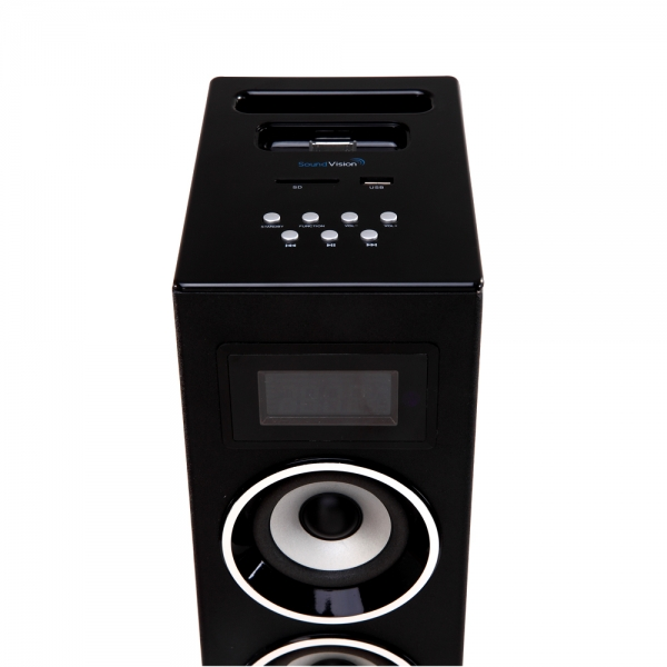 tour audio noire bluetooth avec double dock ipod iphone 3g 3gs 4 4s et micro usb. Black Bedroom Furniture Sets. Home Design Ideas