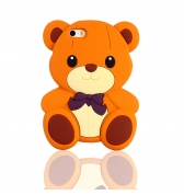 Coque ourson silicone marron pour iPhone 4 / 4S