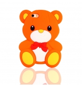 Coque ourson silicone orange pour iPhone 5 / 5S
