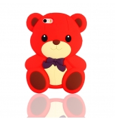 Coque ourson silicone rouge pour iPhone 5 / 5S