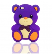 Coque ourson silicone violet pour iPhone 5 / 5S
