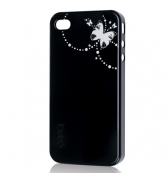 Gear4 coque noire thin ice papillon iPhone 4/4S