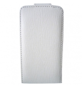 ETUI SIMILI CUIR BLANC POUR IPHONE 3G/3GS