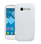 Coque silicone blanche pour Alcatel One Touch Pop C5
