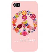 Coque Flower Peace & Love pour iPhone 4 / 4S