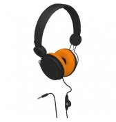 Casque Delta Colorblock noir et orange Jack 3.5 mm