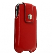Etui rouge Faconnable vintage pression vertical iphone 3g 3gs