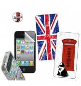 Kit protection et d&eacute;co British pour iPhone 4 / 4S