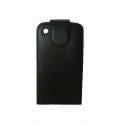 ETUI SIMILI CUIR NOIR CLAPET POUR APPLE IPHONE 3G/3GS