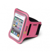 Brassard Muvit Rose lavable velcro L pour iPhone, HTC, Galaxy Y