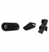 Kit mains libres Bluetooth stereo SuperTooth Crystal noir avec support voiture